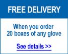 Free delivery bulk glove orders